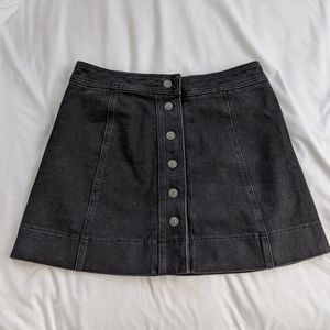 Madewell Metropolis Snap Front Denim Miniskirt